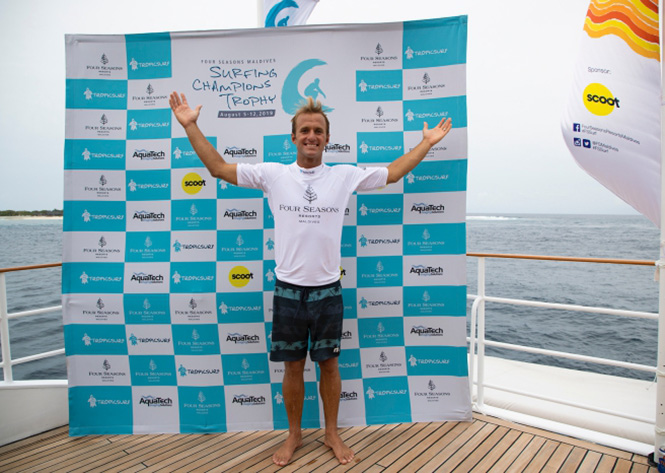 Josh Kerr Claims Single-fin Division at Four Seasons Maldives Surfing Champions Trophy 2019
